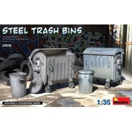 MA35636 Steel Trash Bins 1/35